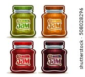 vector logo fruit jam in glass... | Shutterstock .eps vector #508028296