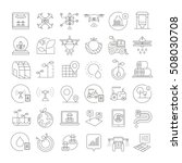smart farm icons  smart... | Shutterstock .eps vector #508030708