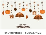 happy thanksgiving card or... | Shutterstock .eps vector #508037422