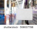 billboard with train station... | Shutterstock . vector #508037788