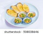 garlic butter clam on white...   Shutterstock . vector #508038646
