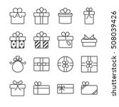gift box and present icons | Shutterstock .eps vector #508039426