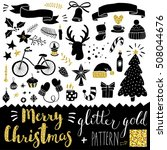 hand drawn christmas doodles  ... | Shutterstock .eps vector #508044676