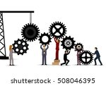 business people teamwork  ... | Shutterstock .eps vector #508046395
