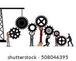 business people teamwork  ... | Shutterstock .eps vector #508046395