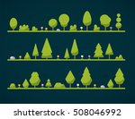 set of flat forest  | Shutterstock .eps vector #508046992