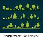 set of flat forest  | Shutterstock .eps vector #508046992