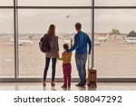 such large aircraft. back view... | Shutterstock . vector #508047292