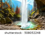 Pericnik Waterfall In Slovenian ...