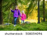 two funny little sisters having ... | Shutterstock . vector #508054096