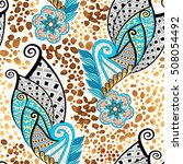 seamless bright pattern with... | Shutterstock .eps vector #508054492