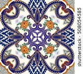 bandanna contrast seamless with ... | Shutterstock .eps vector #508054585