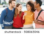 group of students in new york... | Shutterstock . vector #508065046