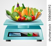 scale with fruits and... | Shutterstock .eps vector #508068592