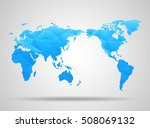world map. low poly design.... | Shutterstock .eps vector #508069132
