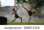 martial arts of muay thai thai... | Shutterstock . vector #508071328