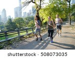 group of joggers exercising at...   Shutterstock . vector #508073035