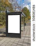 an image of a bus stop with a... | Shutterstock . vector #508081486