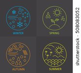 seasons. the weather in winter  ... | Shutterstock .eps vector #508083052