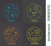seasons. the weather in winter  ... | Shutterstock .eps vector #508083052