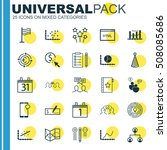 set of 25 universal editable... | Shutterstock .eps vector #508085686