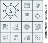 set of project management icons ... | Shutterstock .eps vector #508087615
