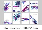 geometric background template... | Shutterstock .eps vector #508091056