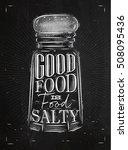 poster salt cellar lettering... | Shutterstock .eps vector #508095436