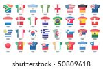 countries flags icons in jersey ... | Shutterstock .eps vector #50809618