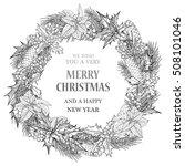 merry christmas background ... | Shutterstock .eps vector #508101046