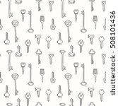 Vintage Keys Seamless Pattern....