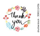 thank you hand lettering... | Shutterstock . vector #508111456