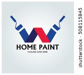 home paint logo design template ...   Shutterstock .eps vector #508115845