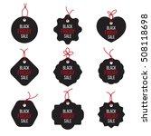 vector black friday sales tag... | Shutterstock .eps vector #508118698