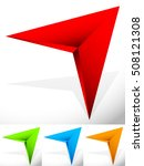 sharp edgy 3d arrow icon in... | Shutterstock .eps vector #508121308