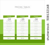 pricing comparison table set...