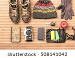 winter season personal male... | Shutterstock . vector #508141042