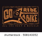 hand drawn vintage bicycle and... | Shutterstock .eps vector #508143352