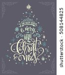 hand drawing christmas... | Shutterstock .eps vector #508144825