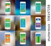 mobile app single screens ui...