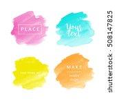 beautiful watercolor backgrounds | Shutterstock .eps vector #508147825