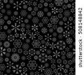 vector snowflakes seamless... | Shutterstock .eps vector #508148842