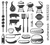 isolated barbecue objects set... | Shutterstock .eps vector #508152322