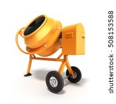 concrete mixer 3d illustration... | Shutterstock . vector #508153588