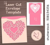 lasercut vector wedding... | Shutterstock .eps vector #508154356