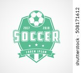 soccer emblem green flat icon... | Shutterstock .eps vector #508171612