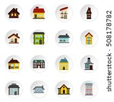 house icons set. flat... | Shutterstock . vector #508178782