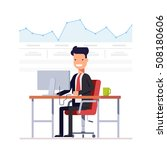 businessman or manager analyzes ... | Shutterstock .eps vector #508180606