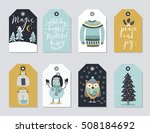 christmas tags set  hand drawn... | Shutterstock .eps vector #508184692