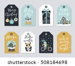 christmas tags set  hand drawn... | Shutterstock .eps vector #508184698